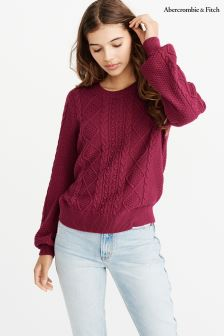 Abercrombie & Fitch Puff Sleeve Knit