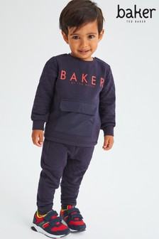 Baker by Ted Baker Navy Quilted Set