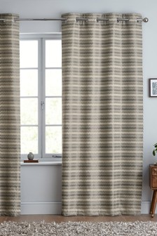 Mini Geo Stripe Eyelet Curtains