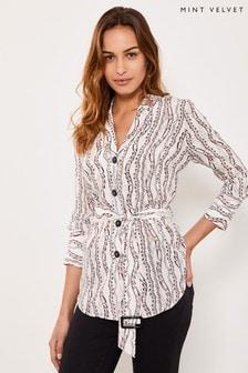 Mint Velvet Wilma Print Blazer Shirt