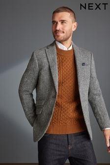 Signature Wool Tailored Fit Harris Tweed Blazer