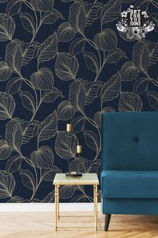 Art For The Home Blue Boutique Royal Palm Wallpaper