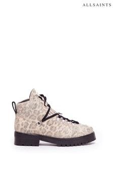 AllSaints Lia Crop Lace-Up Calf Boots