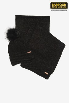 Barbour® International Sparkle Beanie And Scarf Gift Set