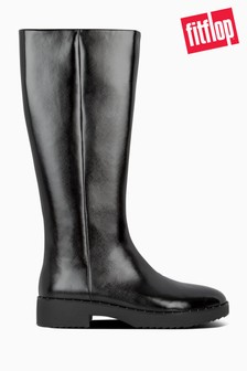 FitFlop Black Mari Safferano Knee-High Boots