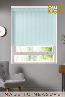 Orla Kiely Green Woven Tiny Stem Made To Measure Roller Blind