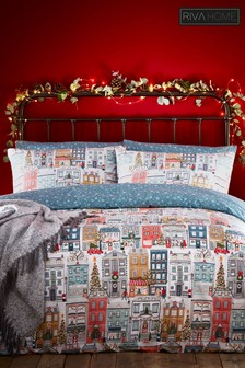 Riva Home Christmas Town Duvet Cover And Pillowcase Set