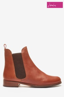 Joules Brown Westbourne Leather Chelsea Boots
