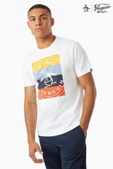 Original Penguin® Multicolour Stripe Stamp Logo T-Shirt