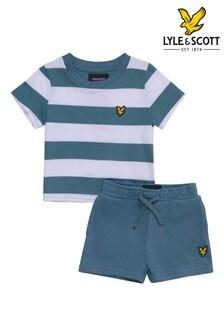 Lyle & Scott Boys Classic Stripe T-Shirt And Shorts Set