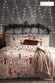 Riva Home Christmas Nutcracker Duvet Cover And Pillowcase Set
