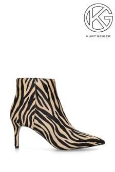 Kurt Geiger Able Beige Comb Ankle Boots