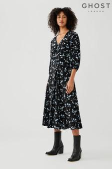 Evie Scatter Floral Print Crepe Georgette Dress