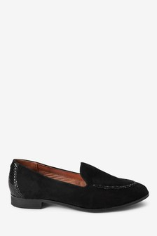 Whipstitch Leather Loafers