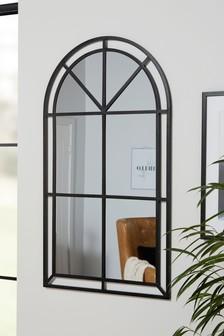 Metal Window Arch Mirror