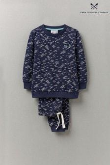 Crew Clothing Company Black Lightweight Seagull Joggers And Sweatshirt Set