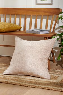 Natural Heavyweight Chenille Large Square Cushion