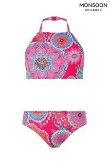Monsoon Children Pink Hetti Reversible Bikini