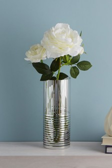 Metallic Stripe Vase