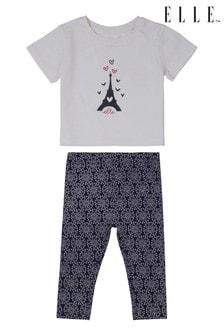 ELLE Frill T-Shirt and Legging Set