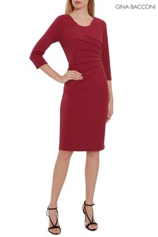 Gina Bacconi Red Ellis Scuba Crepe Dress