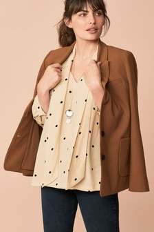 Relaxed Fit Single Breasted Jacket