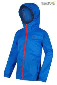 Regatta Kids Blue Pack It Waterproof Jacket