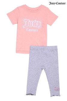 Juicy Couture Faux Sequin T-Shirt and Leggings Set