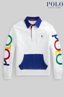 Ralph Lauren White Logo Polo Sweatshirt