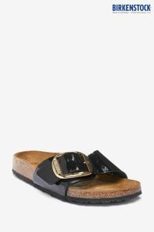 Birkenstock Black Patent Big Buckle Sandals