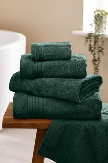Bottle Green Egyptian Cotton Towels