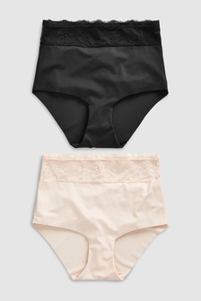 Shaping Lace Waist Shorts Two Pack