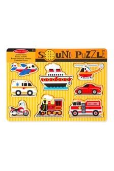 Melissa & Doug Vehicles Sound Puzzle