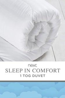 Sleep In Comfort 1 Tog Duvet