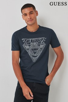 Guess Black Outline Logo Tee