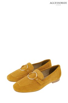 Accessorize Yellow Louise Loafers