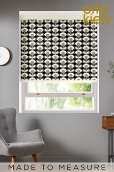Orla Kiely Grey Oval Flower Made To Measure Roller Blind