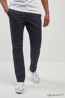 GANT Slim Twill Navy Chino