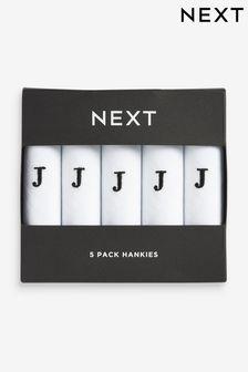 Monogram Handkerchiefs Five Pack