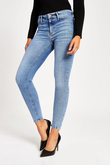River Island Mid Authentic Molly Rock Jeans