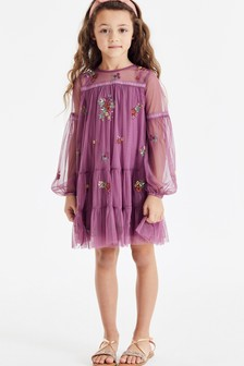 Tiered Embroidered Dress (3-16yrs)