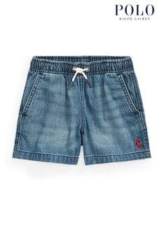 Ralph Lauren Blue Logo Denim Shorts