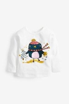 Long Sleeve Christmas T-Shirt (3mths-7yrs)