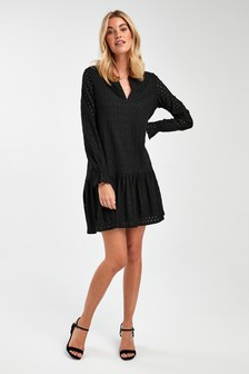 Broderie Tiered Smock Dress