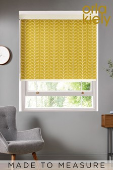 Orla Kiely Yellow Linear Stem Made To Measure Roller Blind