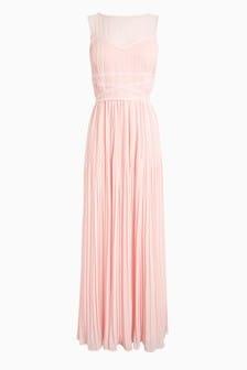 Embellished Detail Maxi Bridesmaid Dress