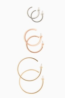 Hoop Earrings Three Pack