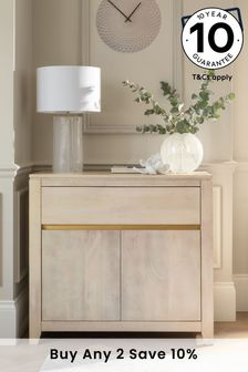 Amsterdam Light Mango Wood Small Sideboard with Drawer