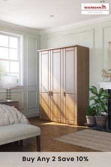 Elmsmore 1.5M Wood Hinged 3 Door Wardrobe