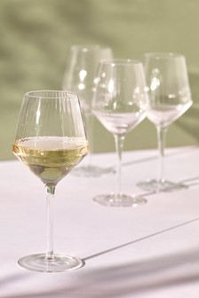 Set of 4 Optic Rib Wine Glasses